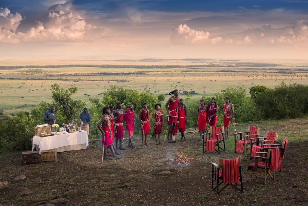 Kenya Maasai dance sundowners Masai Mara family safari