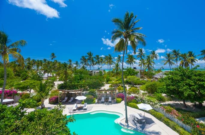 Tanzania Zanzibar White Sands Luxury Villas family safari resort view
