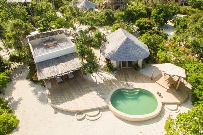 Tanzania Zanzibar White Sands Luxury Villas family safari beachfront one bed villa
