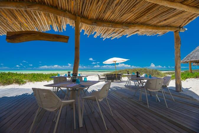 Tanzania Zanzibar White Sands Luxury Villas family safari beach restaurant