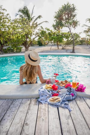 Tanzania Zanzibar White Sands Luxury Villas family safari pool breakfast