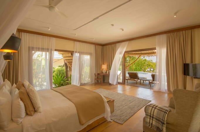Tanzania Zanzibar White Sands Luxury Villas family safari interiors