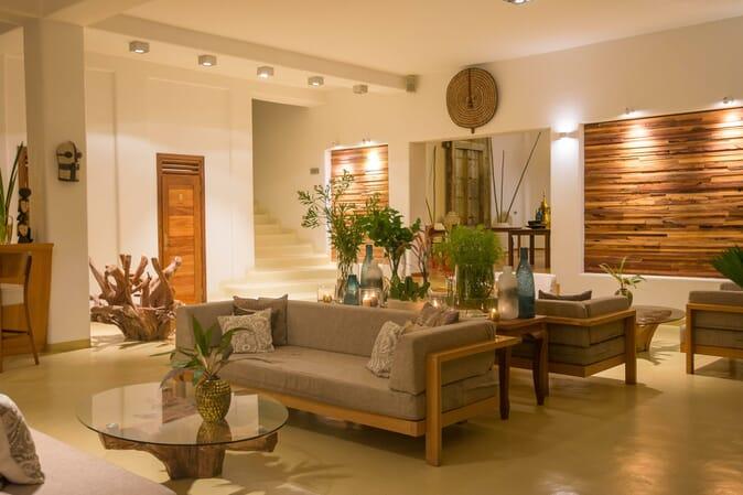 Tanzania Zanzibar White Sands Luxury Villas family safari lounge bar
