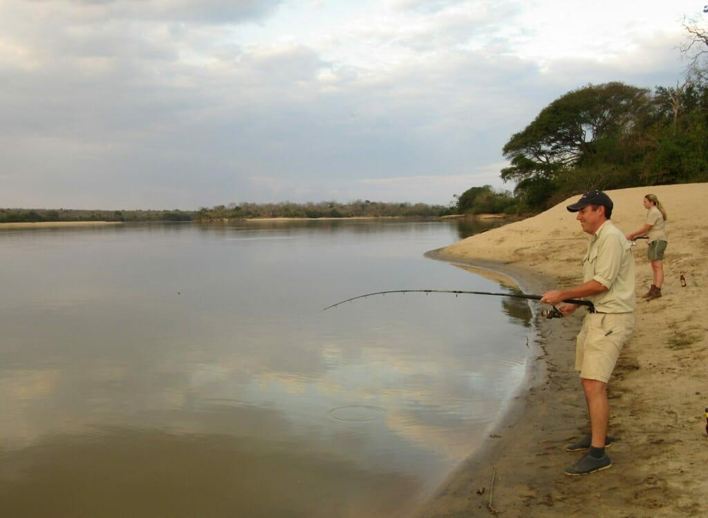Tanzania nyerere national park fishing Rufiji River family safari