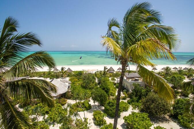 Tanzania Zanzibar White Sands Luxury Villas family safari resort kitesurfer