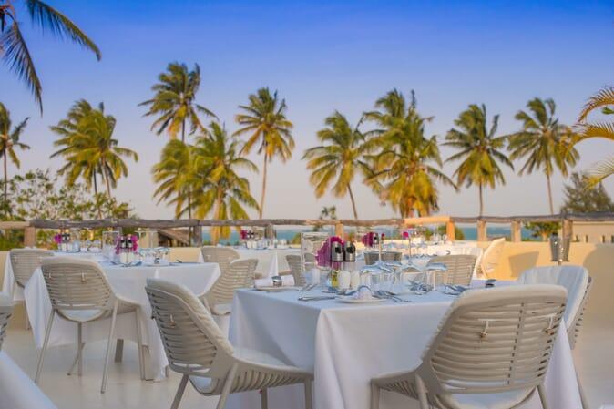 Tanzania Zanzibar White Sands Luxury Villas family safari rooftop bar sunset