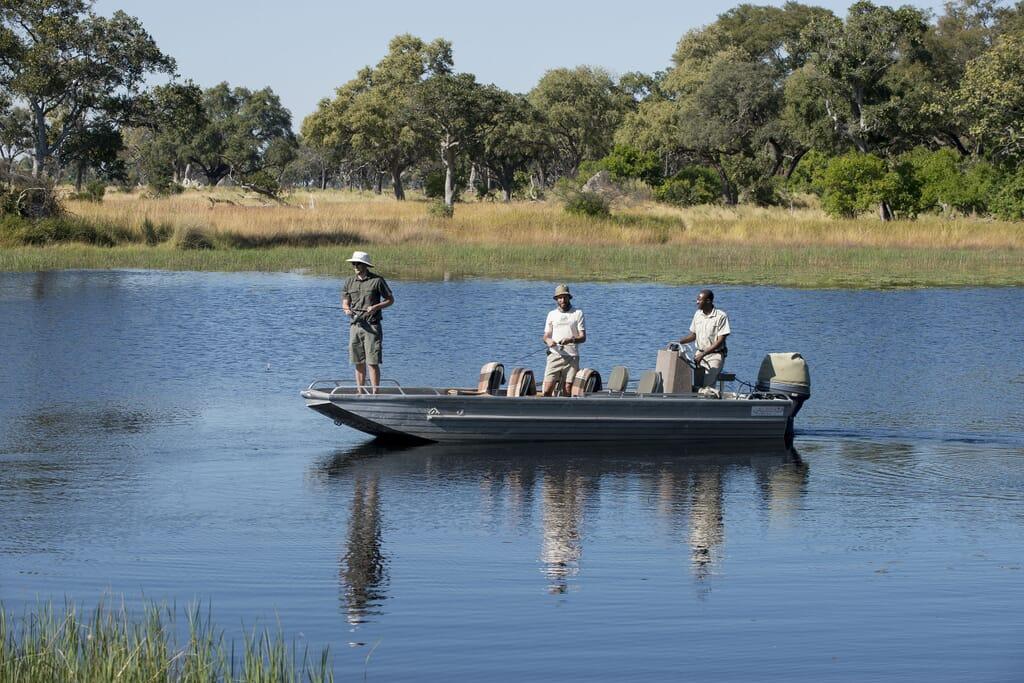 Botswana fishing xaranna Okavango delta family safari