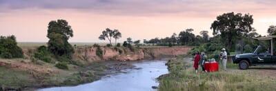 Kenya Masai Mara sundowner game drive family safari