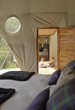 Highlands Ngorongoro family dome tent Tanzania family safari