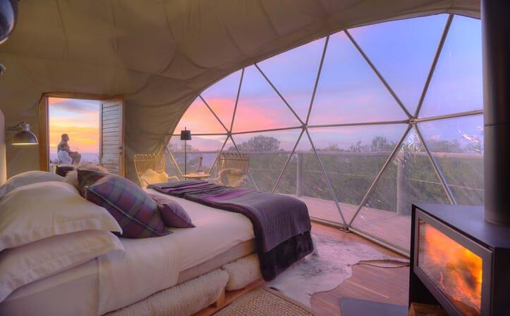 Highlands Ngorongoro honeymoon dome tent sunset Tanzania family safari