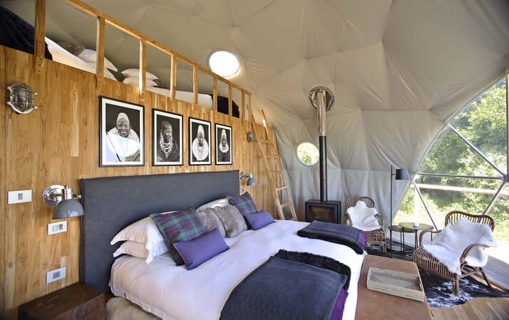 Highlands Ngorongoro mezzanine dome tent Tanzania family safari