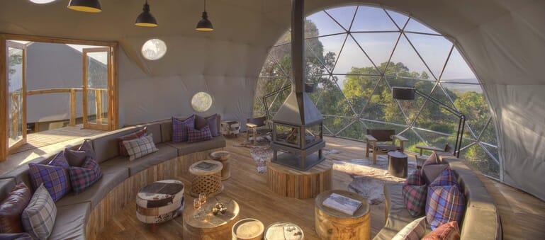 Highlands Ngorongoro lounge dome tent Tanzania family safari