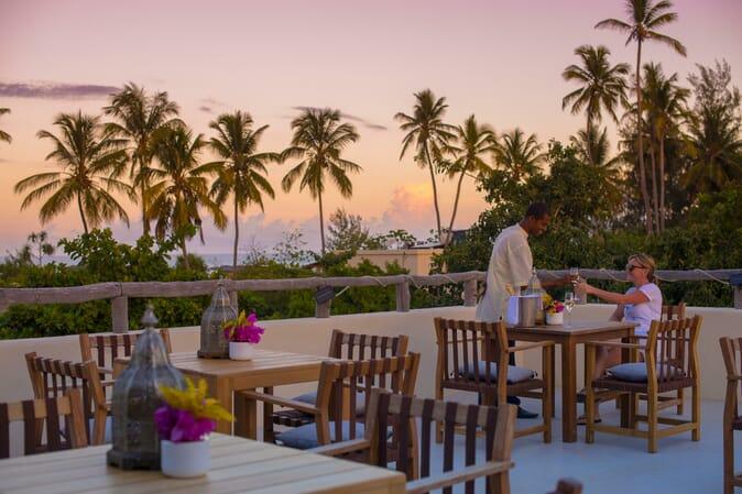 Tanzania Zanzibar White Sands Luxury Villas family safari rooftop champagne bar