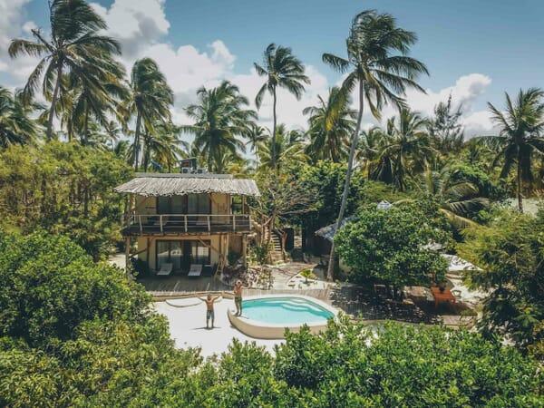 Tanzania Zanzibar White Sands Luxury Villas family safari two bed villa aerial