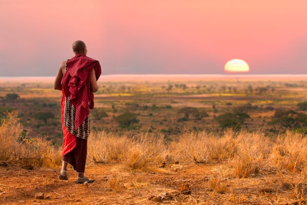 masai serengeti sunset family safari