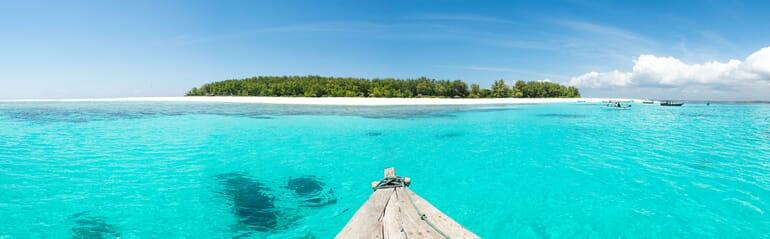 Tanzania Zanzibar andBeyond mnemba island boat landscape