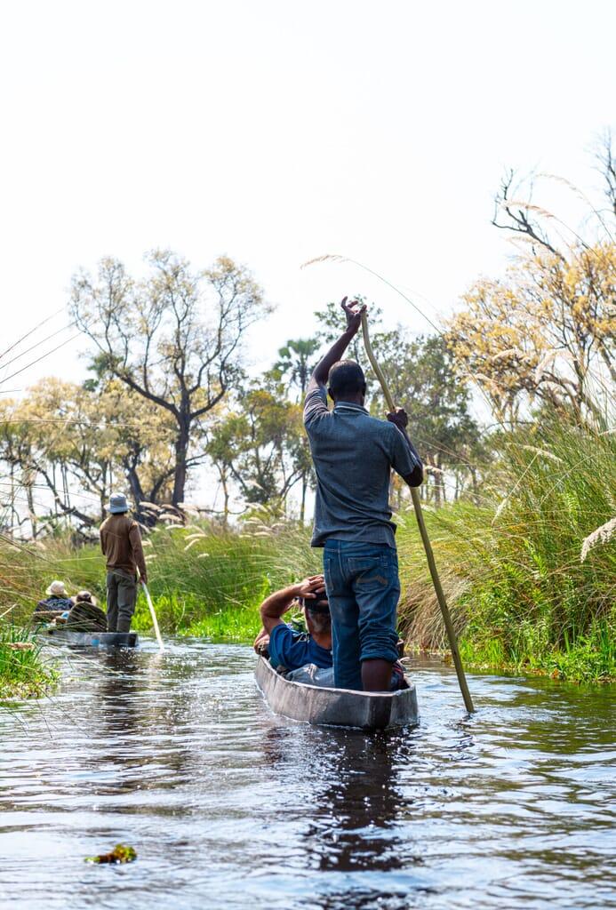 Botswana Okavango delta mokoro boat safaris