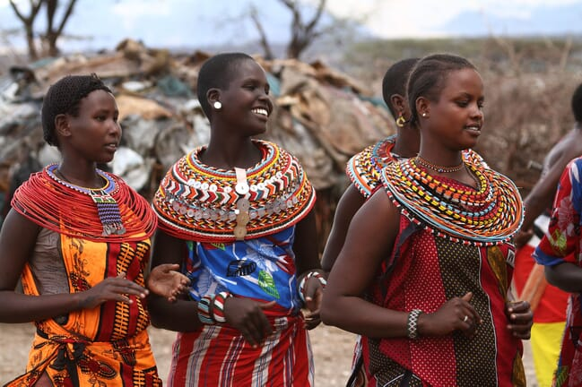 Kenya Samburu traditional dress women cultural immersion