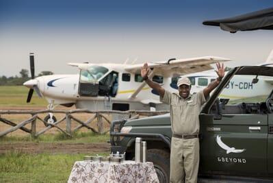 Kenya Masai Mara Kichwa Tembo airstrip welcome family safari