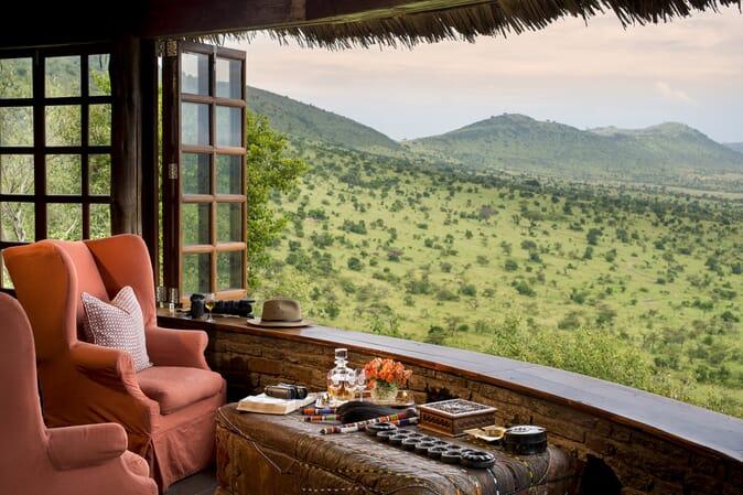 Tanzania Serengeti andBeyond Klein's Camp family safari bar view