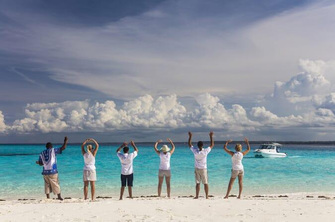Tanzania Zanzibar Mnemba island family safari beach welcome