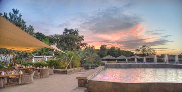 Kenya Nairobi Hemingways family safari fountain