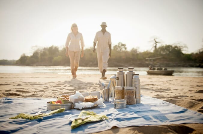 Tanzania Nyerere Sand Rivers Selous family safari breakfast