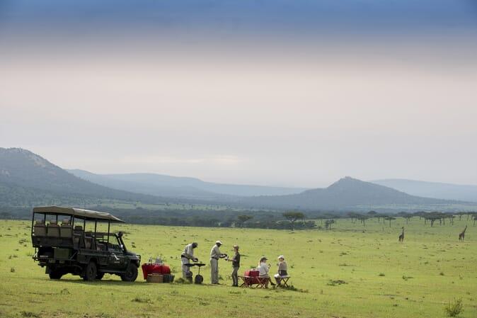 Tanzania Serengeti andBeyond Klein's Camp family safari bush breakfast