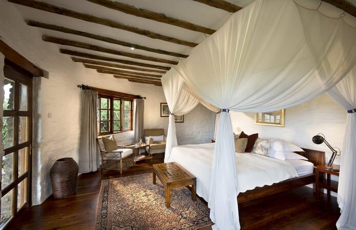 Tanzania Serengeti andBeyond Klein's Camp family safari cottage interior