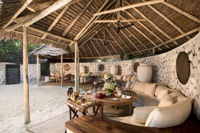 Tanzania Zanzibar andBeyond Mnemba island family safari dining area