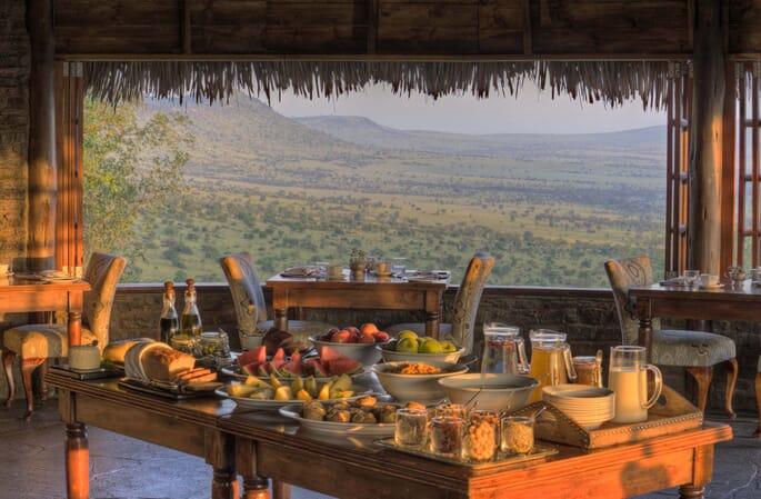 Tanzania Serengeti andBeyond Klein's Camp family safari dining room