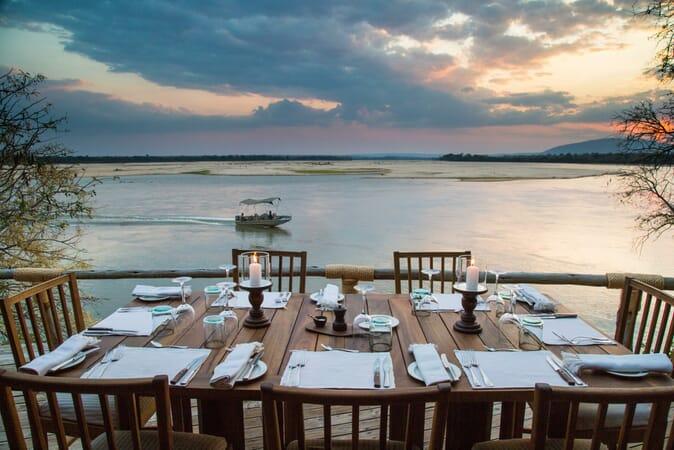 Tanzania Nyerere Sand Rivers Selous family safari dinner