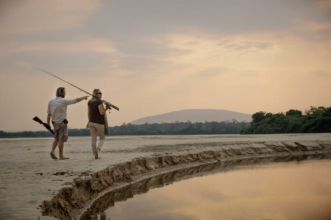 Tanzania Nyerere Sand Rivers Selous family safari fishing