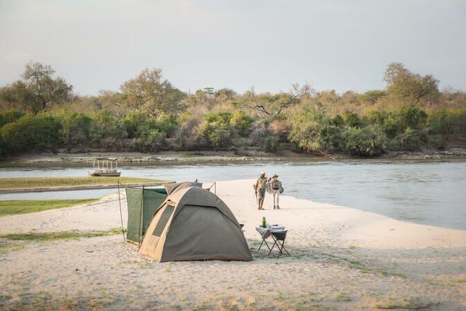 Tanzania Nyerere Sand Rivers Selous family safari flay camp