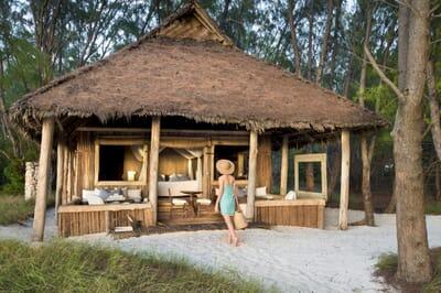 Tanzania Zanzibar Mnemba family safari banda exterior