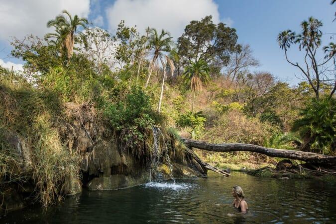 Tanzania Nyerere Sand Rivers Selous family safari hot spring