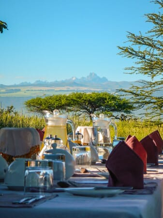 Kenya Lewa House afternoon tea Mount Kenya family safari