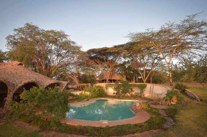 Kenya Lewa House pool guest area family safari