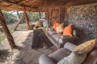 Kenya Lewa House verandah family safari