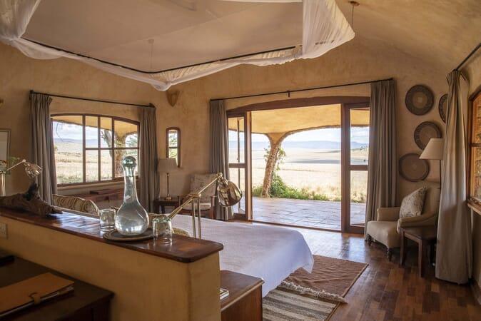 Kenya Lewa House bedroom lodge view family safari