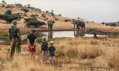 Kenya Lewa House walking safari family elephant