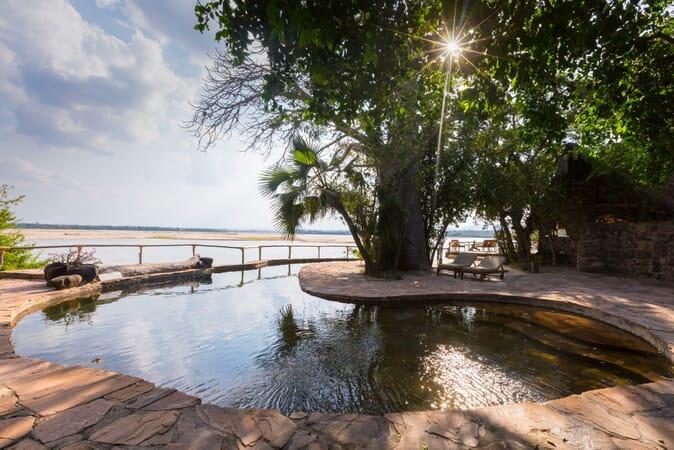 Tanzania Nyerere Sand Rivers Selous family safari swimming pool
