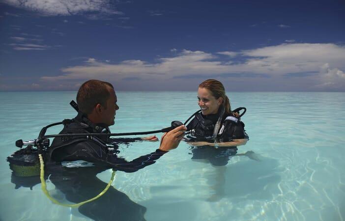 Tanzania Zanzibar Mnemba family safari scuba diving lesson