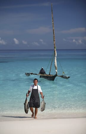 Tanzania Zanzibar Mnemba family safari fresh fish chef