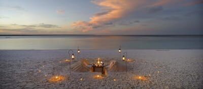 Tanzania Zanzibar Mnemba family safari beach dinner