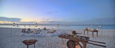 Tanzania Zanzibar Mnemba family safari beach barbecue