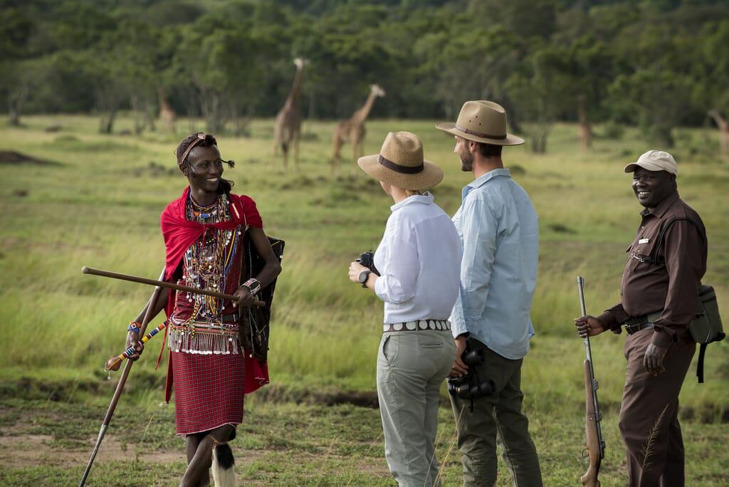 Kenya Masai Mara andBeyond Kichwa Tembo walking family safari