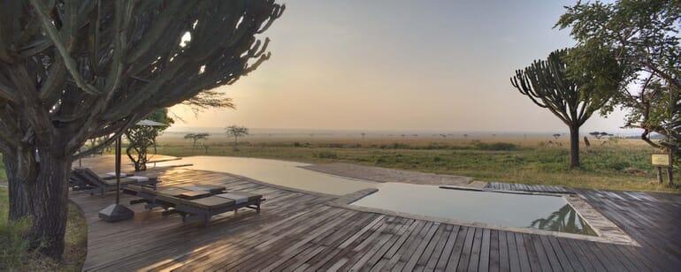Kenya Masai Mara Kichwa Tembo pool view family safari