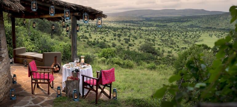 Tanzania Serengeti andBeyond Klein's Camp private dining family safari