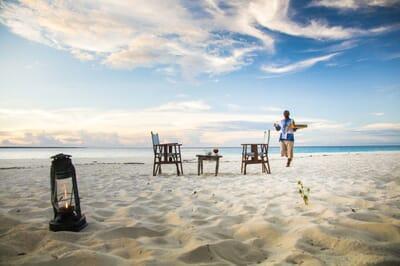 Tanzania Zanzibar Mnemba family safari sundowners beach